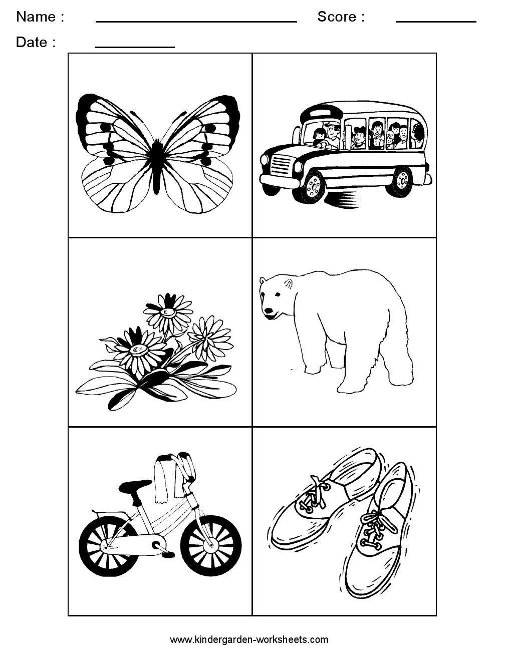 Worksheets Letter B Worksheets Kindergarten kindergarten worksheets alphabet picture cards sorting letter b