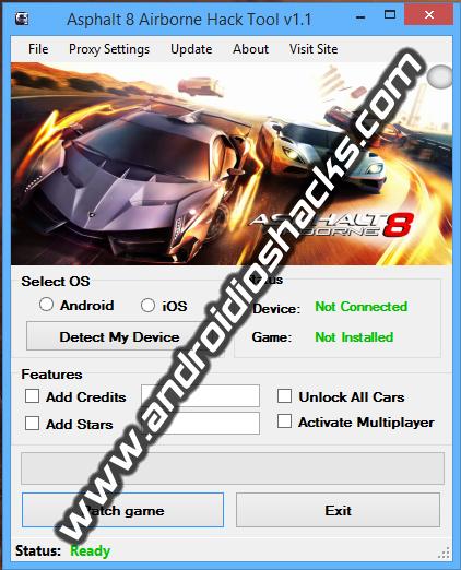 Asphalt 8 Airborne Hack Tool v1.1 (November 2013)
