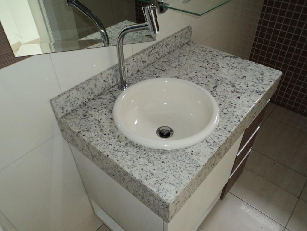Construindo Minha Casa Clean Diferença Mármore x Granito x Marmoglass x Nano -> Cuba Banheiro Granito