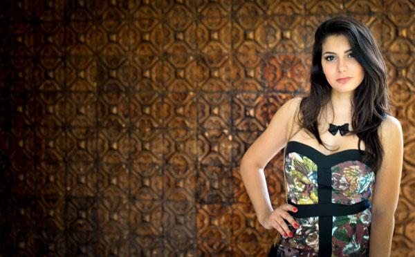 Bárbara Urias - Look floral inverno - Evra - estampa - vestido curto