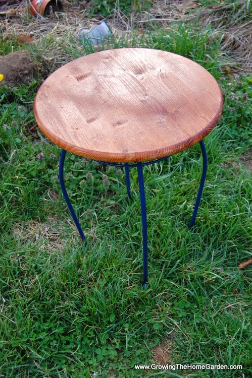 How to make a table from a plant stand