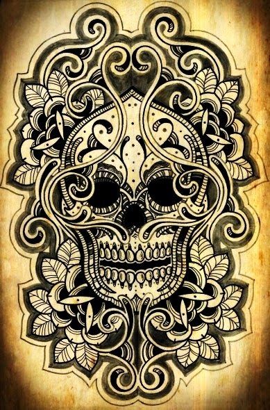 Tattoo Caveira Mexicana Tribal