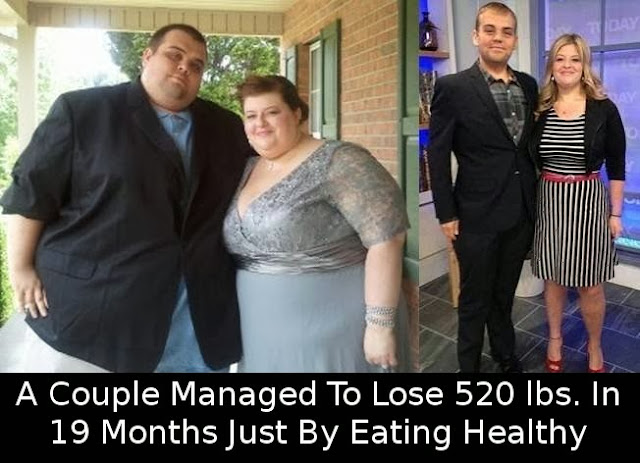 Couple Managed To Lose 520 lbs
