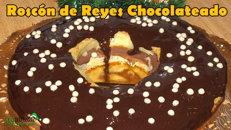 roscon de reyes chocolateado dukan