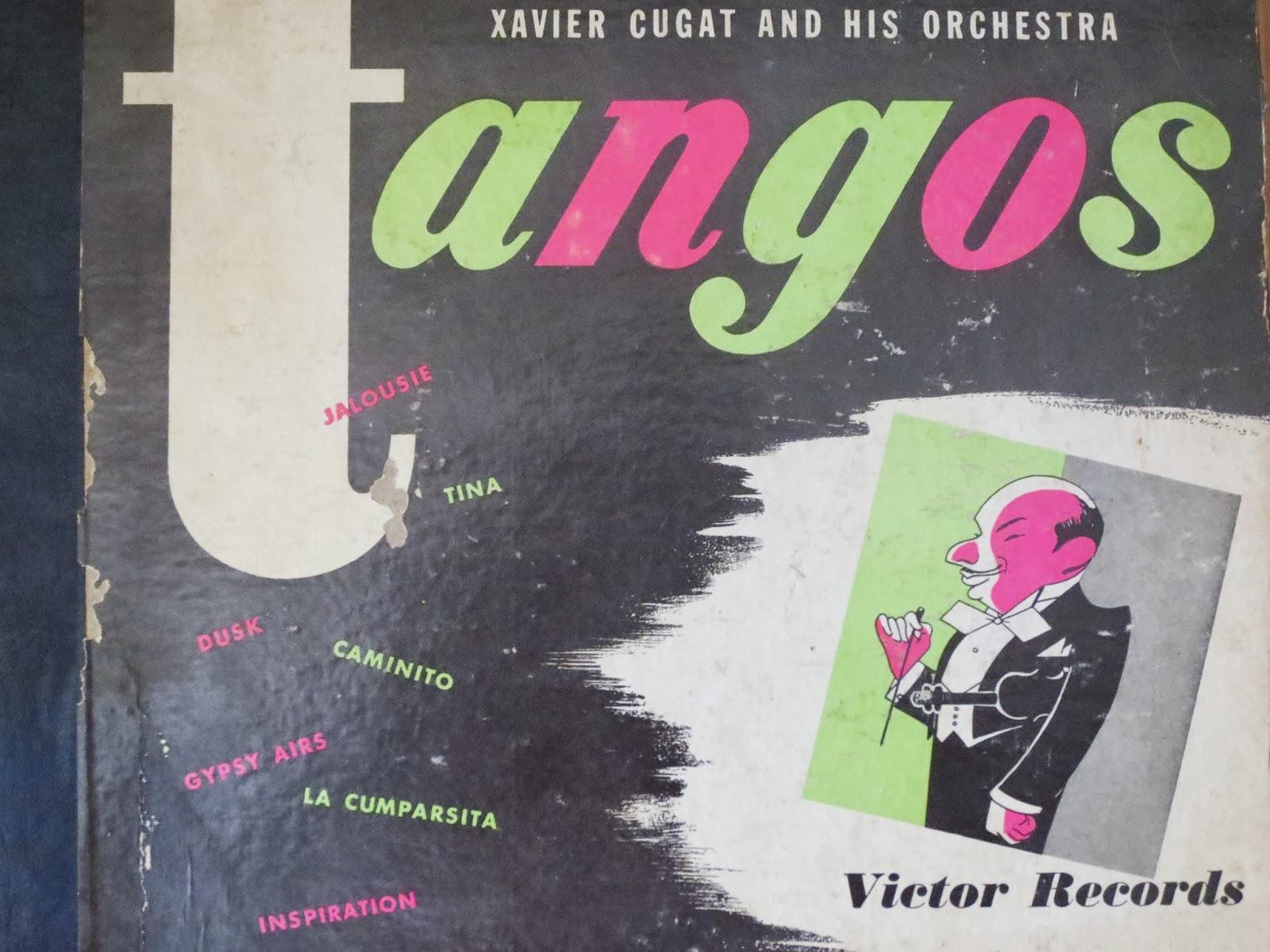vintage xavier cugat tango records via Brentwood Lane