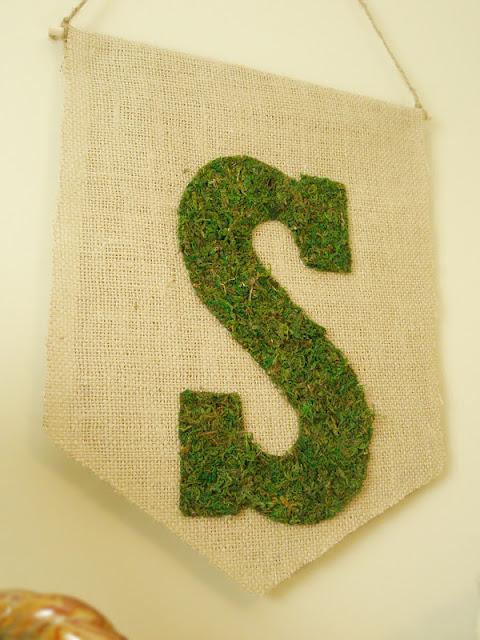 Burlap & Moss Banner DIY