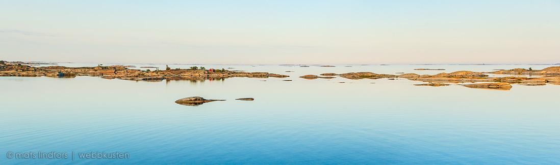 Birka Paradise panoramabild från Kallskär i Stockholms ytterskärgård