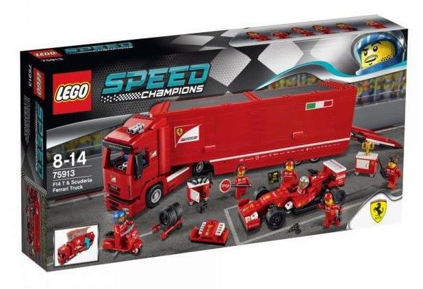 JUGUETES - LEGO Speed Champions  75913 Fórmula F14 T & Camión Escudería Ferrari  Producto Oficial 2015 | Edad: 8-14 años