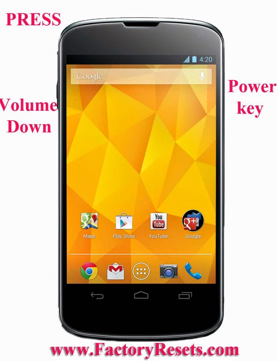 Hard reset  LG Nexus 4 E960