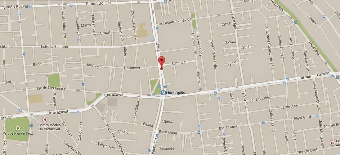 La Fabbrica Egaña mapa