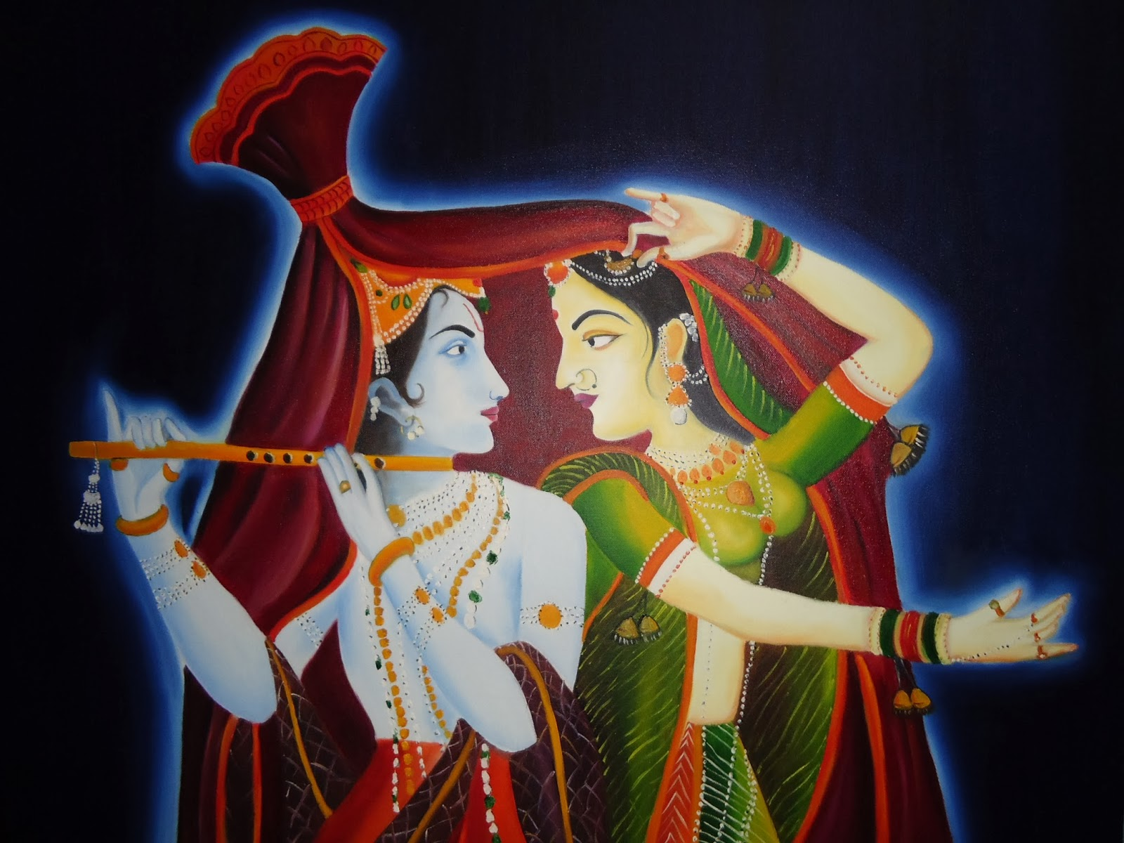 Krishna Radha  imaginary painting