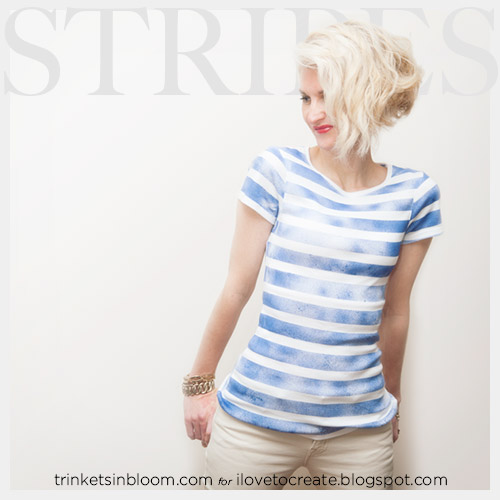 ilovetocreate blog diy striped t shirt with spray paint. Black Bedroom Furniture Sets. Home Design Ideas