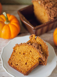 Mini Pumpkin Bread with Cinnamon Pepita Streusel Topping
