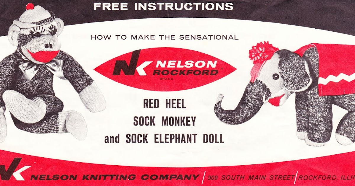 Papergreat How To Make The Red Heel Sock Monkey And Sock Elephant