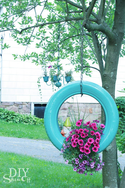 Hola tico diy tire planter for Using tyres as planters