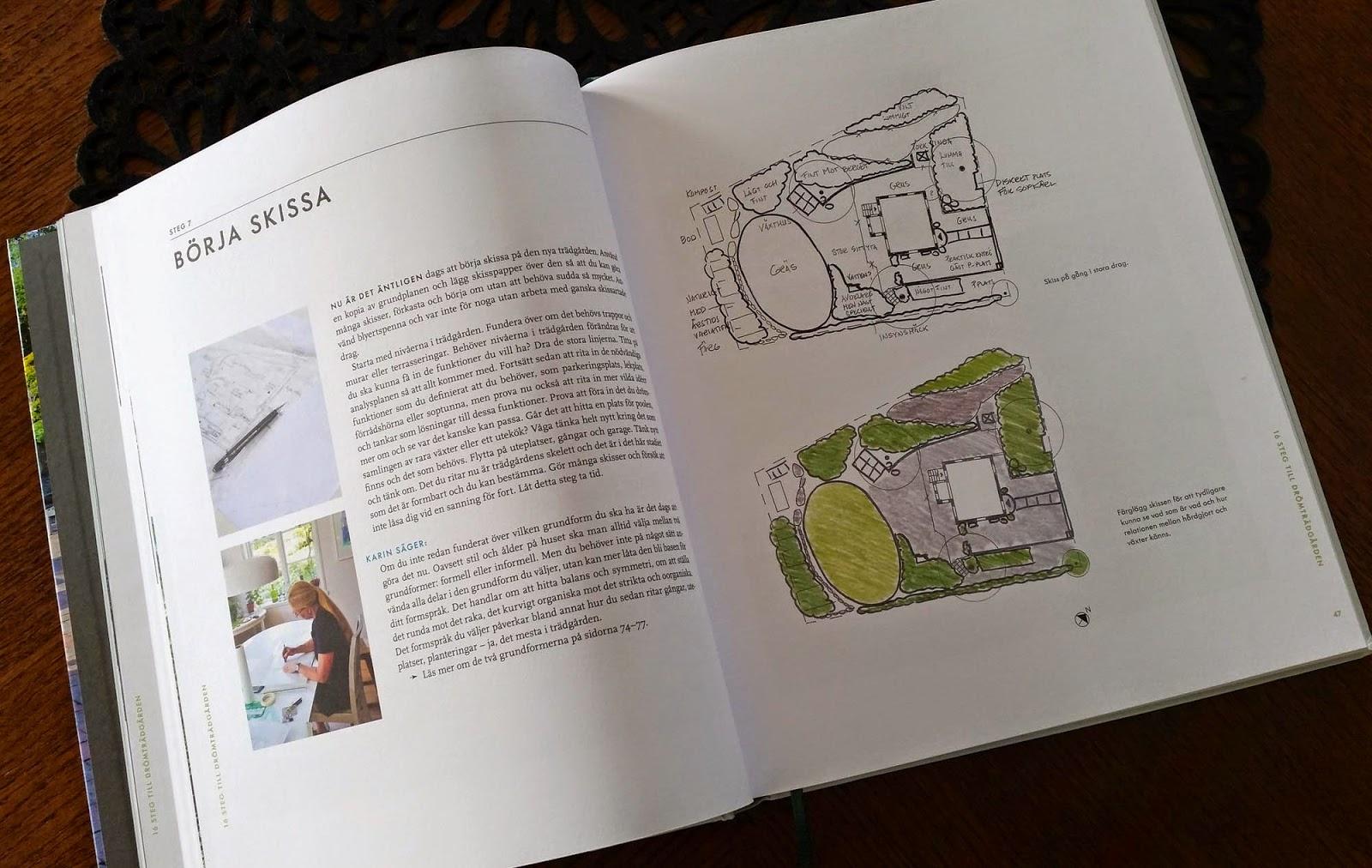 Trädgårdsform - vackrare trädgård med arkitektens verktyg, illustrationer