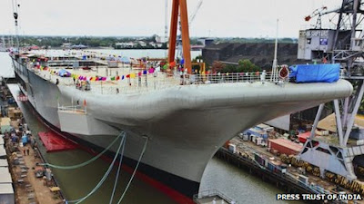 India Unveiled Its First Home-Built Aircraft Carrier