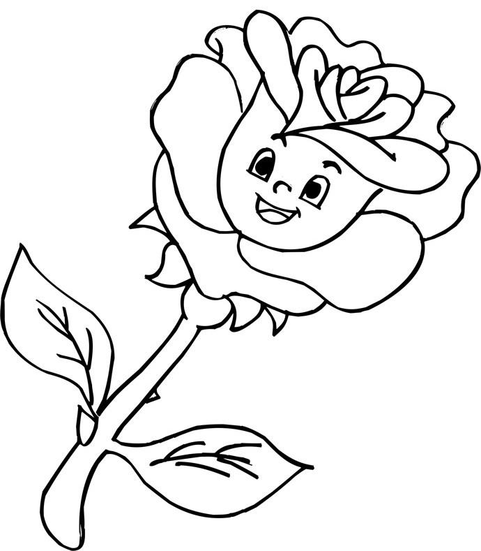 Rayito de Colores: Flores animadas para colorear