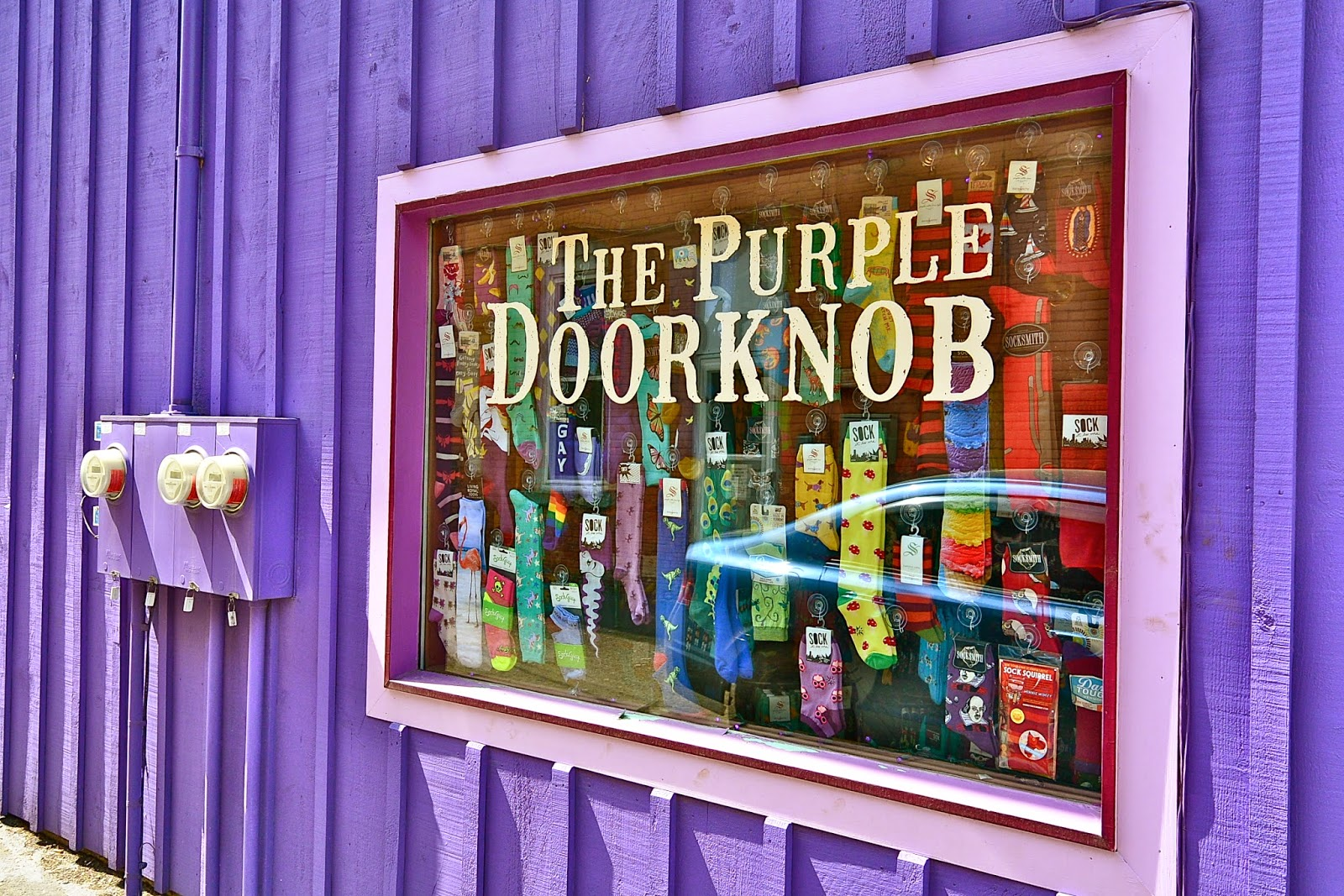 The Purple Door Knob. WOW, This Place Sure Stands Out In Ellicottville NY.  Tom