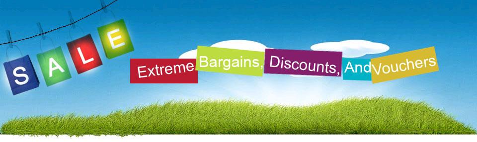 Extreme bargains, discounts, and vouchers