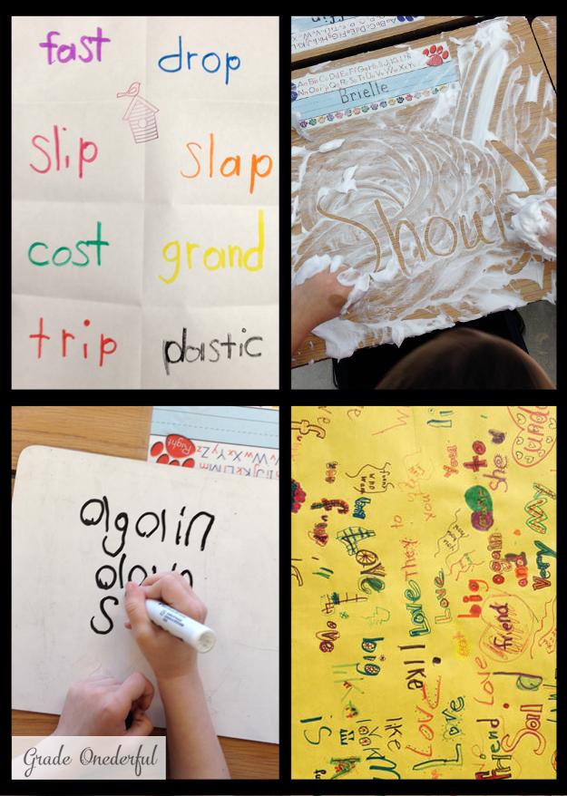 Rainbow words, shaving cream, graffiti spelling and more
