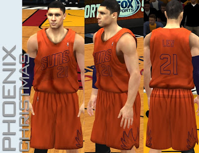 NBA 2K13 Phoenix Suns Orange X-mas Jersey Mod