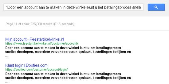 Duizenden Nederlandse Magento sites gebruiken de standaard vertaling