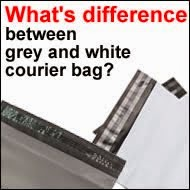 Difference between grey & White courier bag