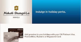 Citibank Credit Card Promo: Makati Shangri-La Holiday Perks, Philippines promotion, promo, discount