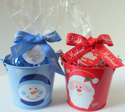 Chocolate Truffles, Milk Chocolate Truffles, White Chocolate Truffles, Adorable Holiday Gift Pails