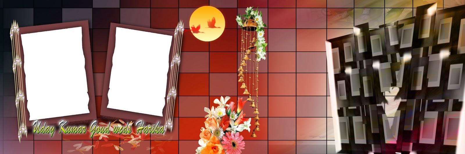 Photoshop backgrounds 12x36 indian wedding album templates design 10 - Karizma Album Background Luckystudio4u