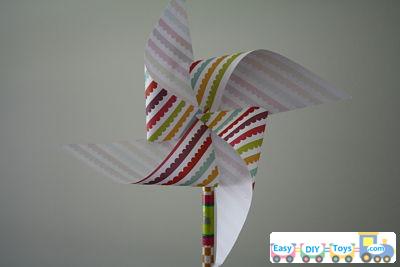 Handmade paper pinwheel easy