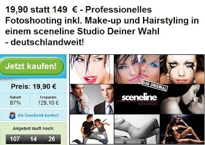 Groupon: Gutschein für professionelles Foto-Shooting bei sceneline im Wert von 149 Euro für 19,90 Euro