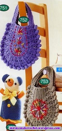 Bolsos a Crochet o Ganchillo