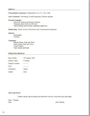 download electronic engineer resume format