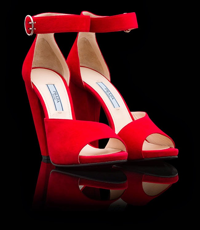 k%C4%B1rm%C4%B1z%C4%B1+topuklu 2 Prada Schuhe 2014 Modelle