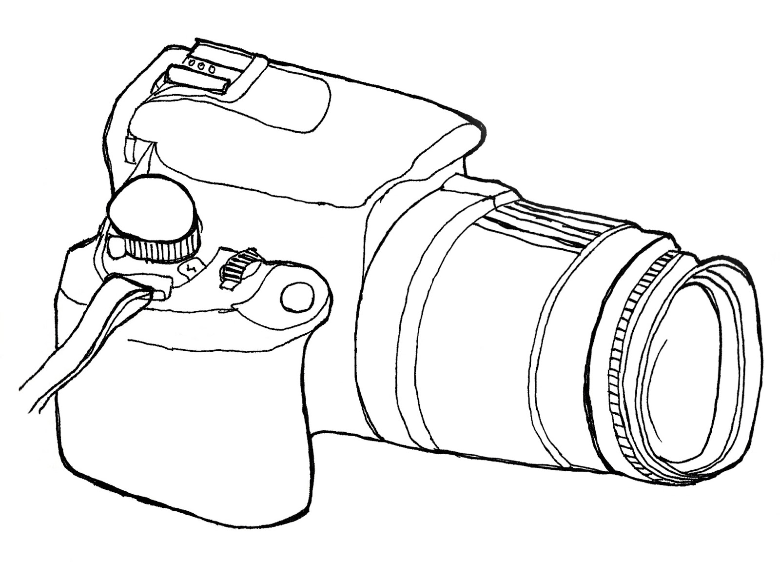 camera lens pencil coloring pages