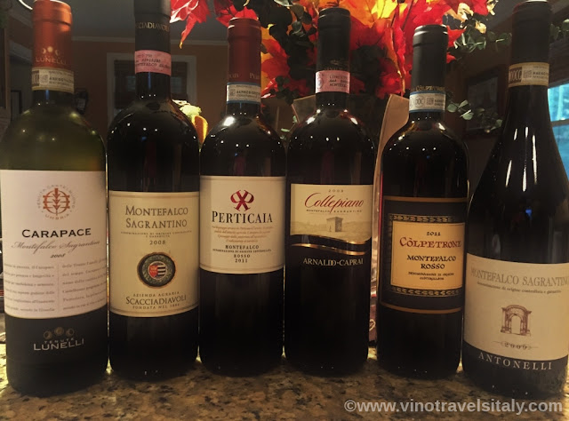 Wines of sagrantino montefalco and rosso montefalco