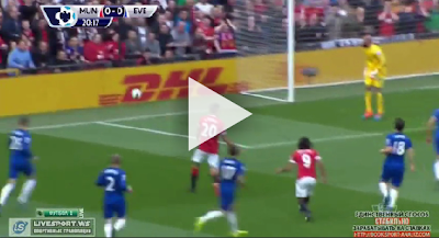 mu everton Video Cuplikan Gol Manchester United 2 : 1 Everton