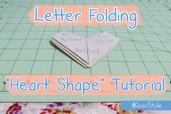 Koori KooriStyle Kawaii Cute HowTo Tutorial Origami Letter SnailMail Snail Mail Penpal Folding Fold Paper Crafts