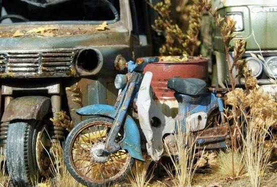 Mô hình xe Cub Honda