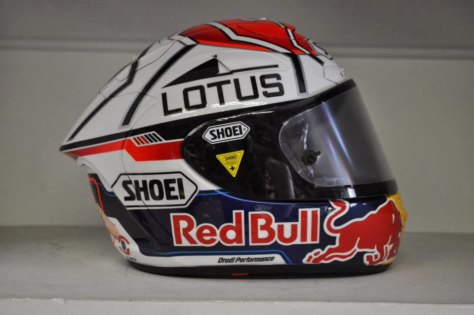 Racing Helmets Garage Shoei X Spirit II MMarquez Motegi