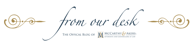 From our Desk - official blog of McCarthy & Akers