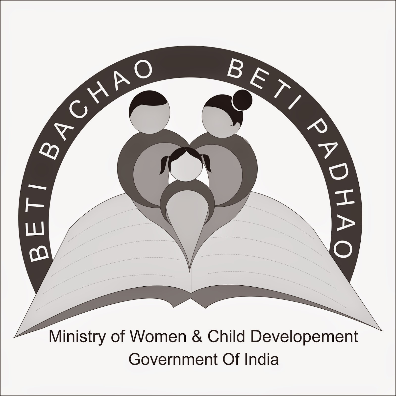Beti bachao beti padhao logo design on behance beti bachao beti padhao logo design on