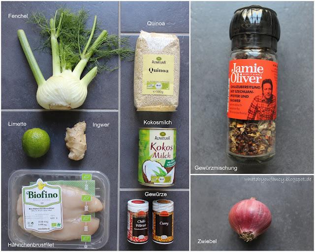 Quinoa mit Fenchel und Kokos-Hühnchen
