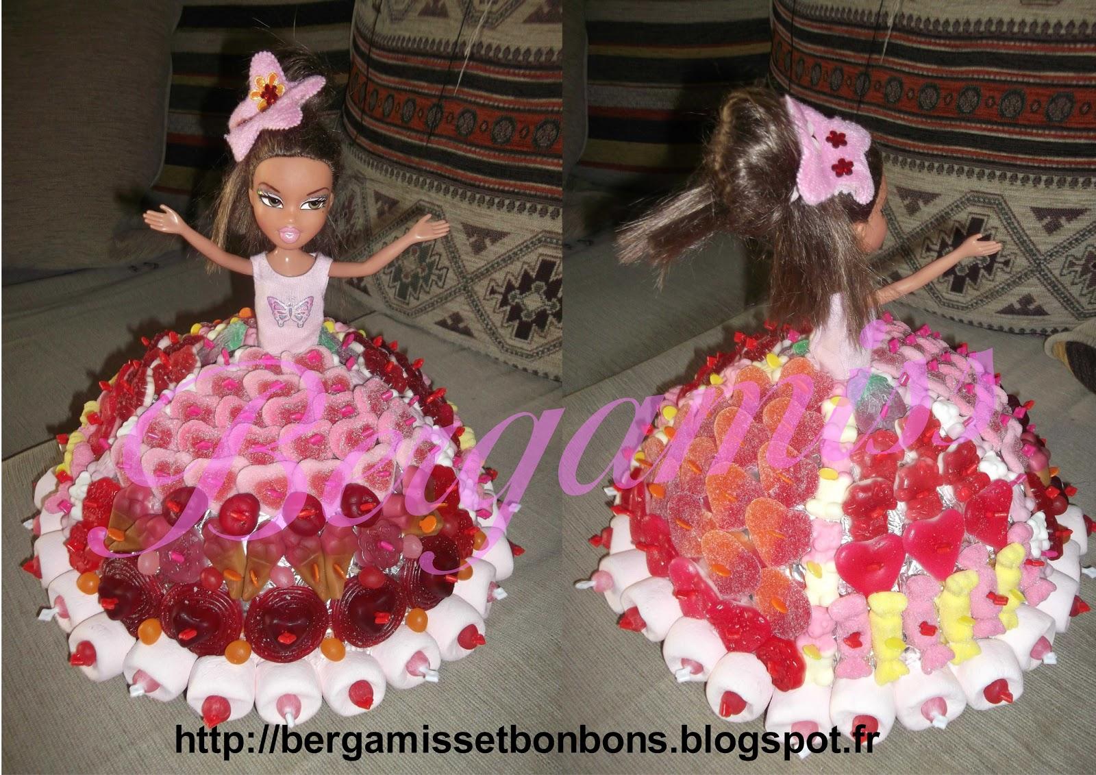Gateau de bonbon pour petite fille