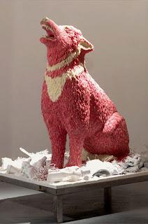 gum sculpture wolf