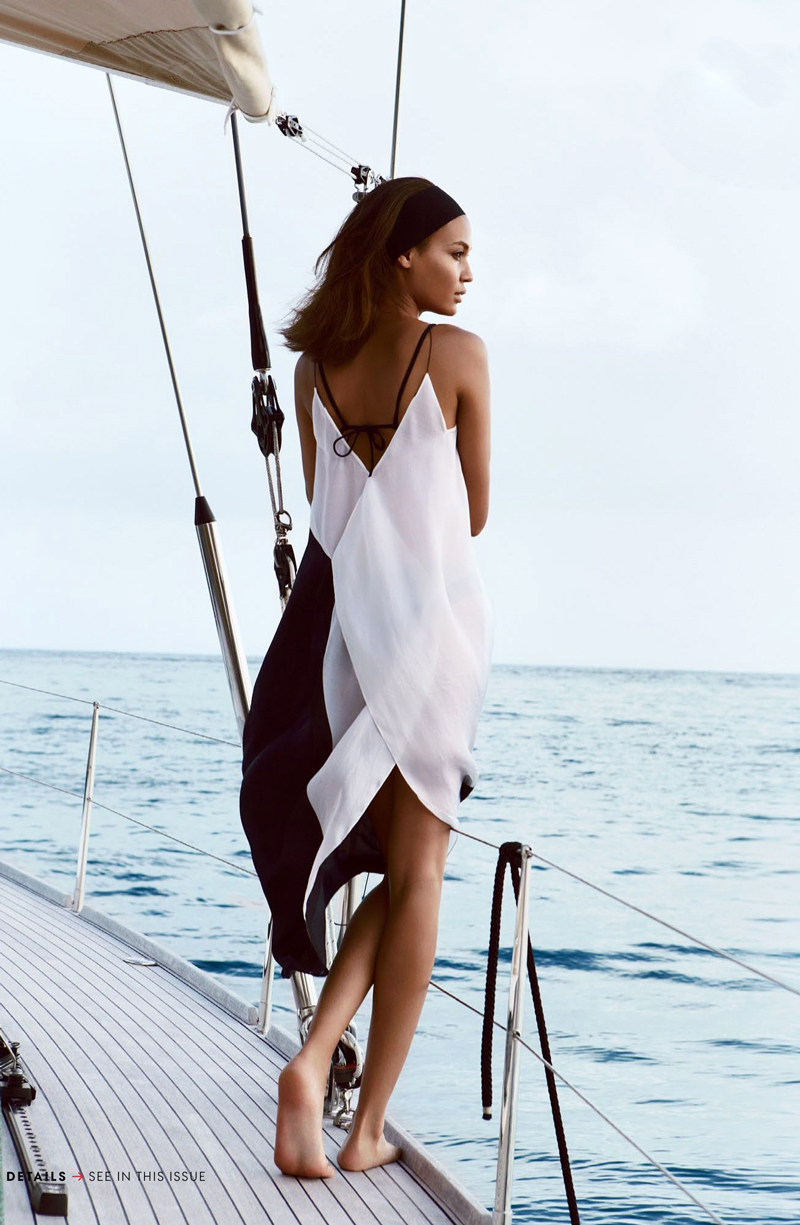 Joan Smalls in Smooth sailing / Vogue US April 2013 (photography: Patrick Demarchelier, styling: Tonne Goodman) via fashioned by love british fashion blog