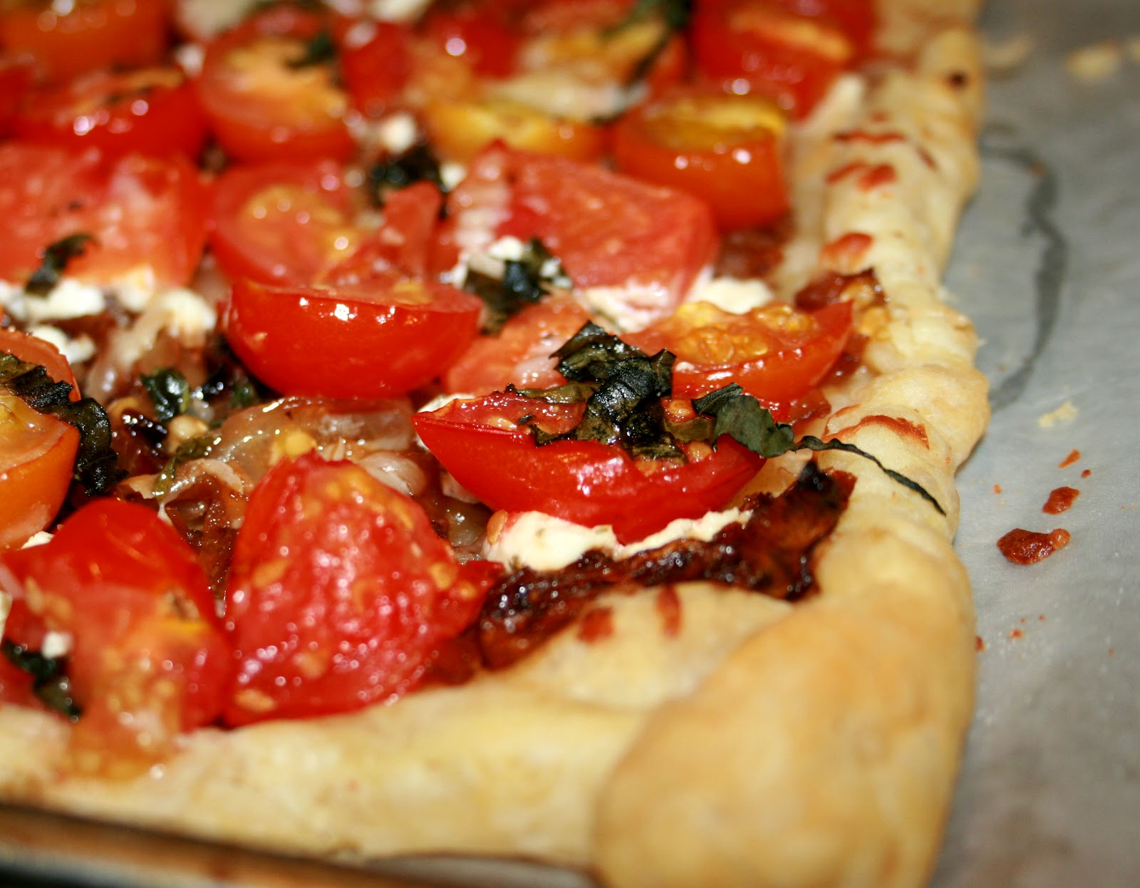 Sugar Spice Tomato And Goat Cheese Tart