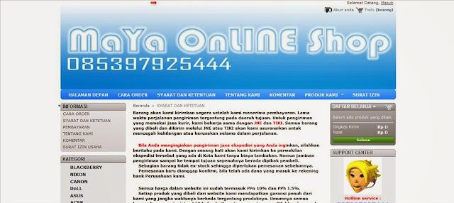 Review Toko Online Maya OL Shop Penipu
